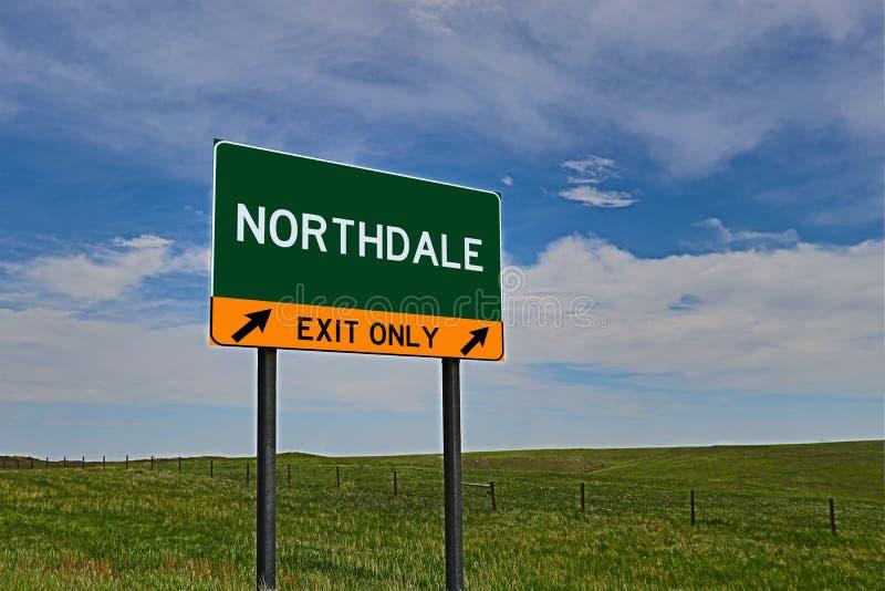 US-Landstraßen-Ausgangs-Zeichen für Northdale stockfotografie
