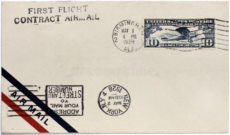 US-Luftpost-Abdeckung lizenzfreie stockfotografie