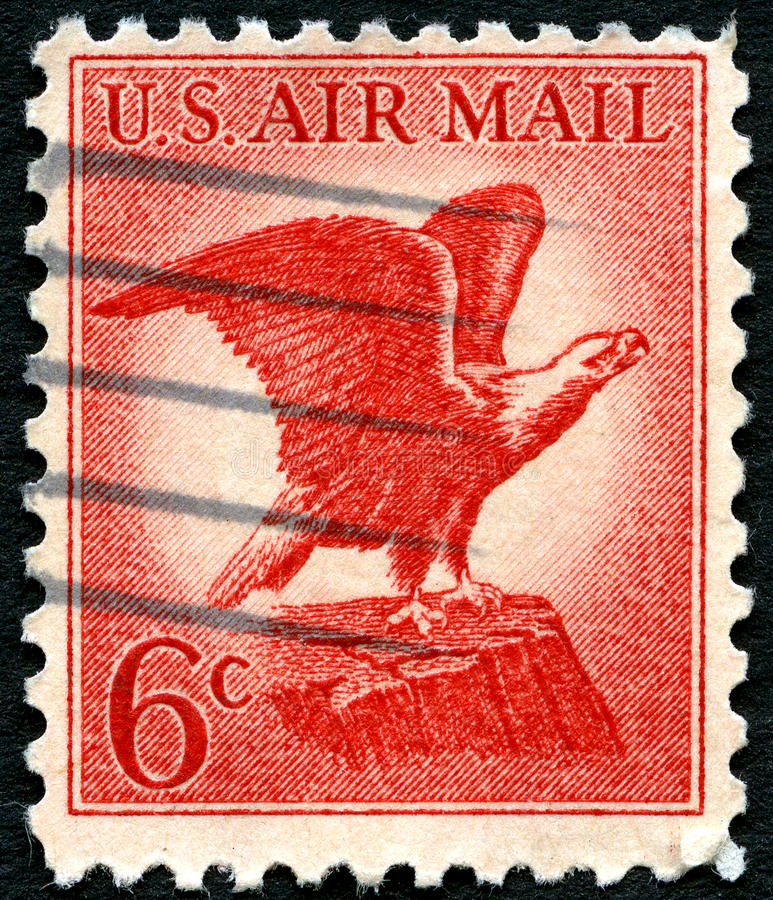 US-Luftpost-Briefmarke stockbild