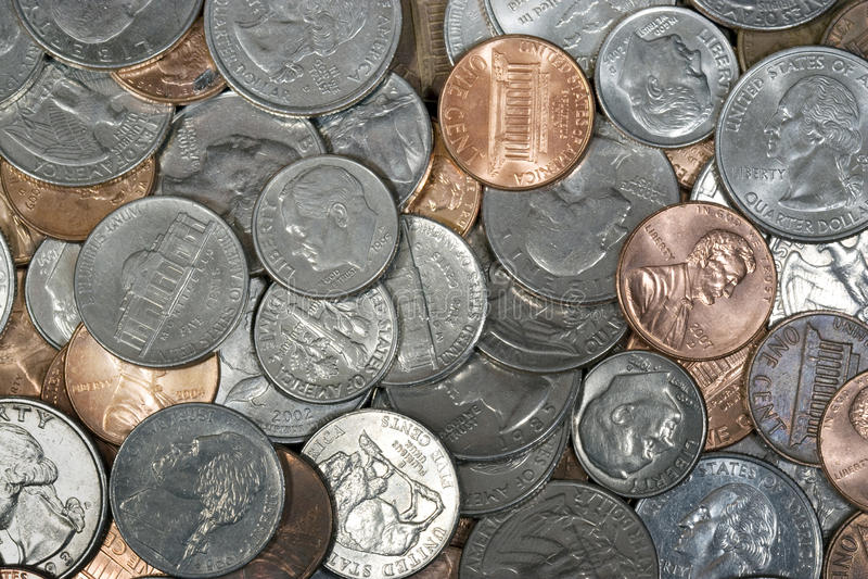 US-Münzen stockfotografie