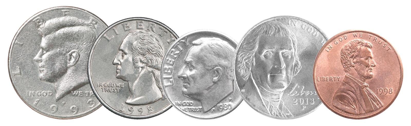 US-Münzsammlung lizenzfreies stockfoto