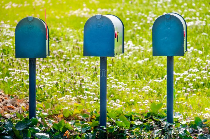 US mail letterbox delivery USA mailboxes american vintage style royalty free stock images