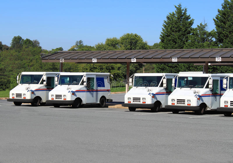 Download US Mail Trucks stock photo. Image of mail, tree, distribution - 26533466