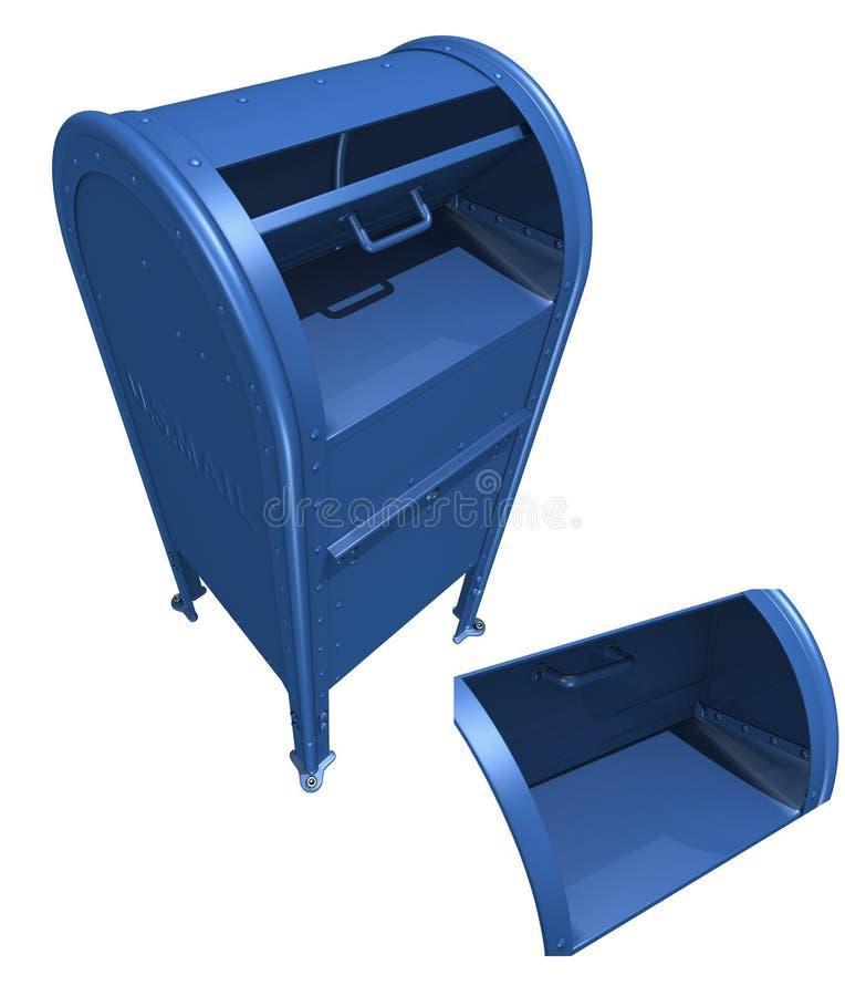 US mailbox vector illustration