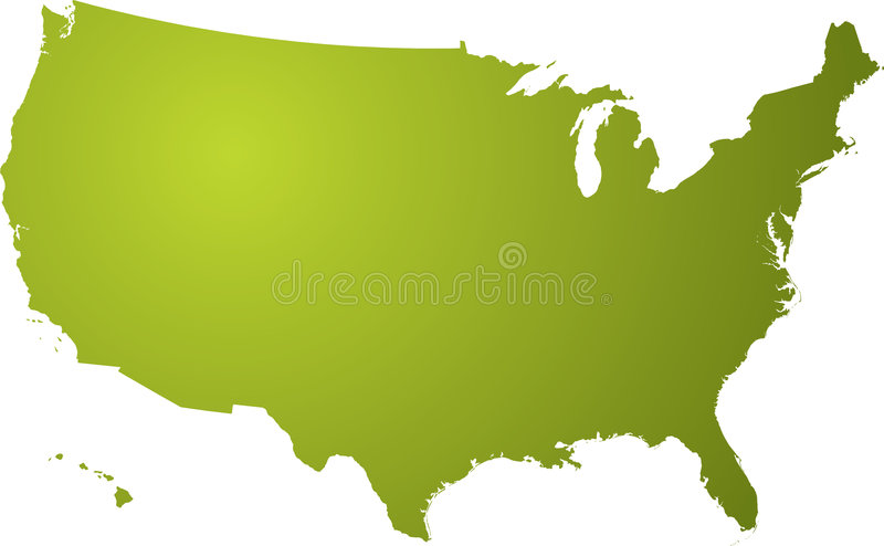 Download Us map green stock vector. Image of mississippi, background - 2882758