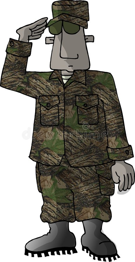 Download US Marine stock illustration. Image of uniform, salute, marine - 57856