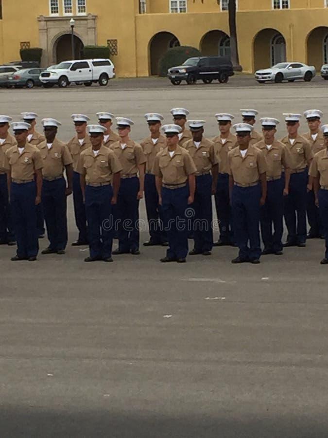 US Marine Corp Graduation stockbild
