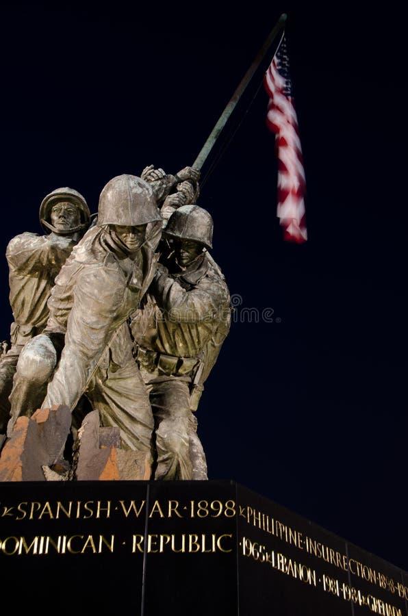 US Marine Corps Memorial in Washington DC USA. US Marine Corps Memorial close-up, Washington DC USA royalty free stock image