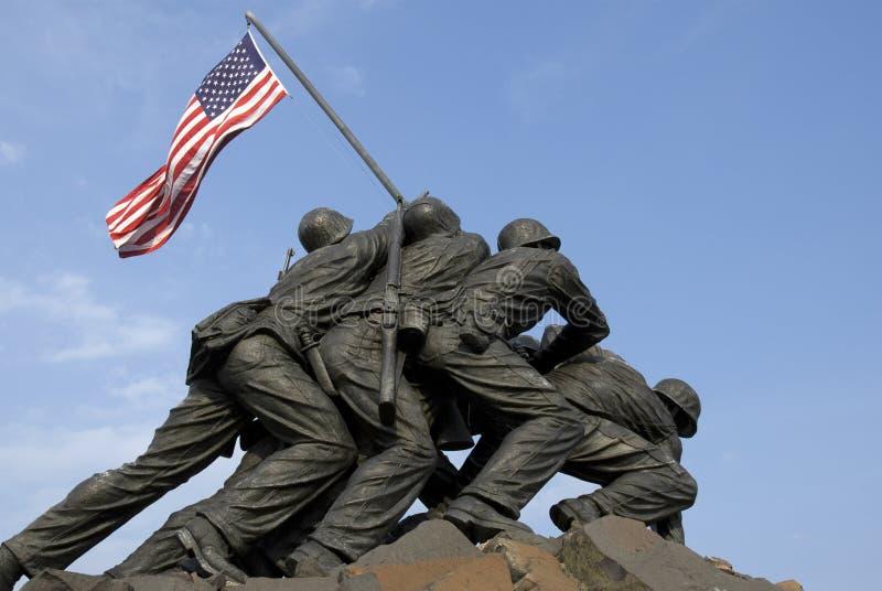 US-Marineinfanteriekorps-Krieg-Denkmal lizenzfreie stockbilder