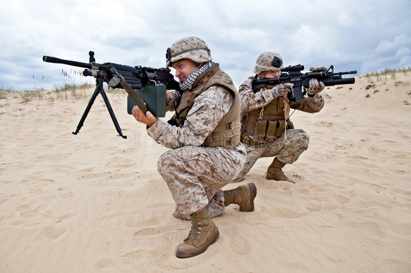 Download US marines in action stock image. Image of soldier, ranger - 27854173