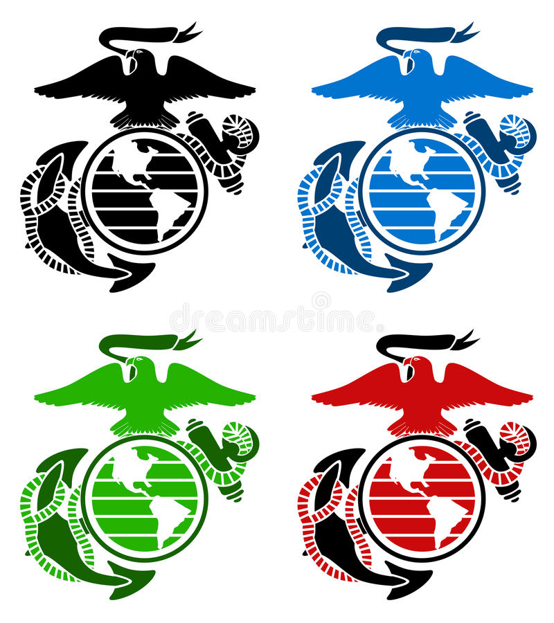 us marines emblem stock illustration illustration of honor 35664913 rh dreamstime com yanmar marine logo vector marine logo vector 39