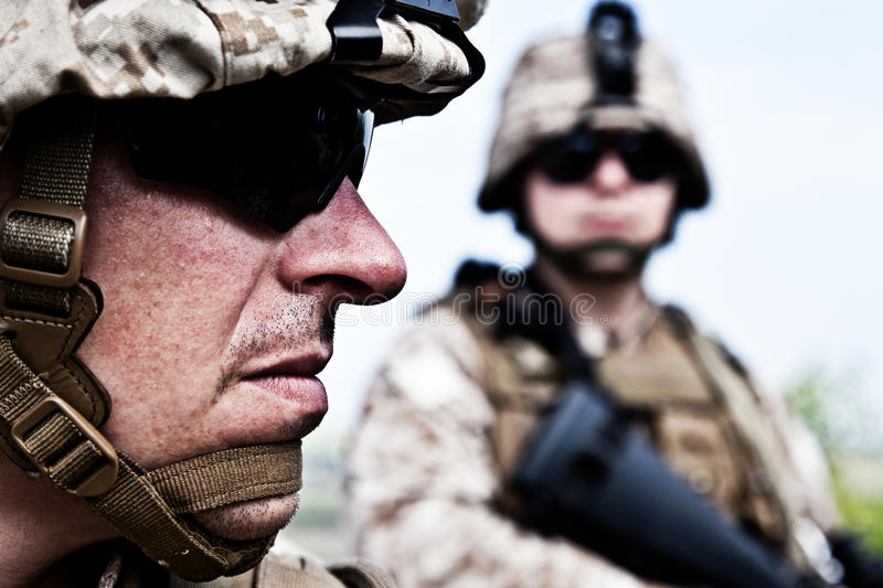 US marines stock images
