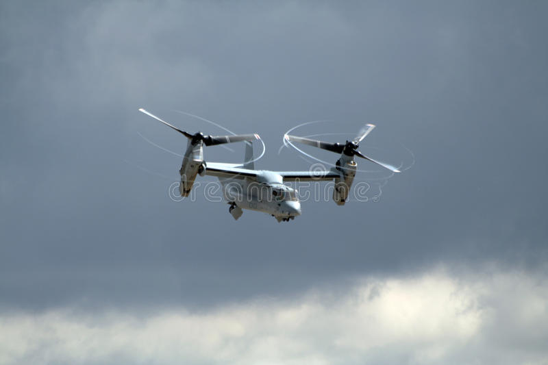 US Marines Osprey airplane royalty free stock image
