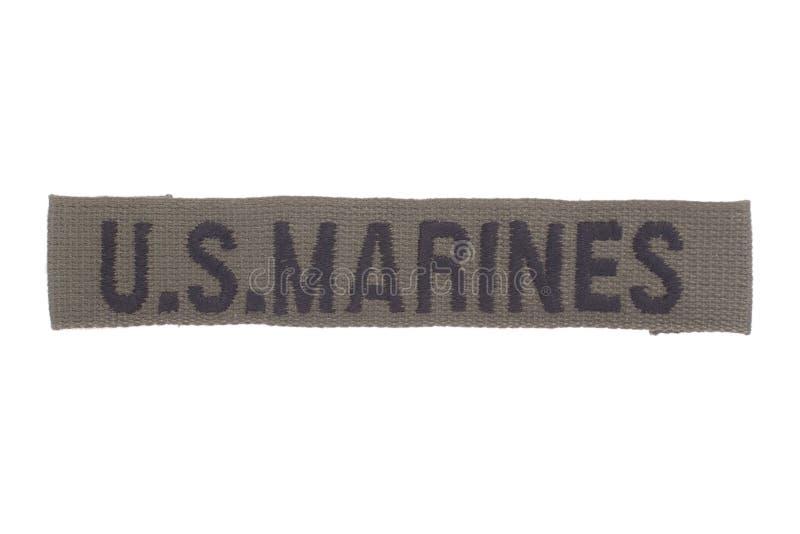 US MARINES uniform badge. Isolated royalty free stock images