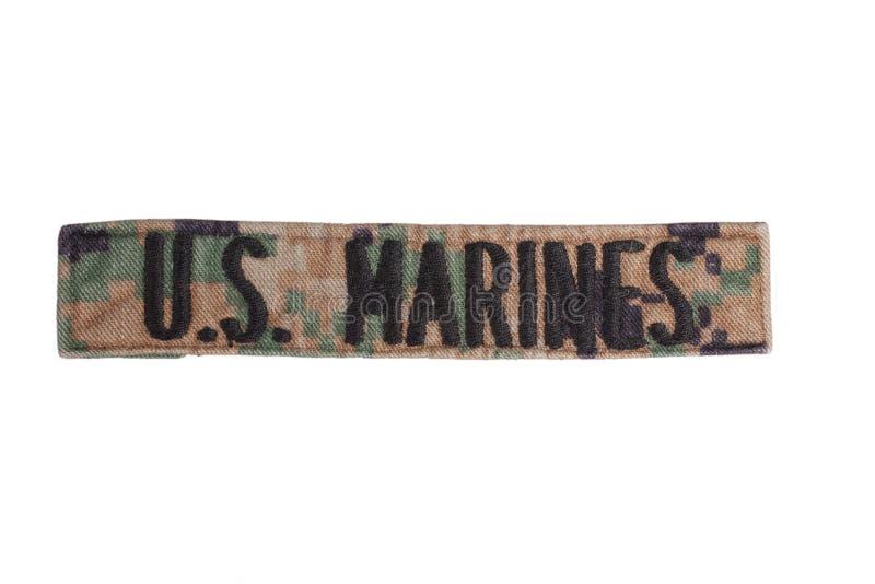 US MARINES uniform badge. Isolated on white stock photo