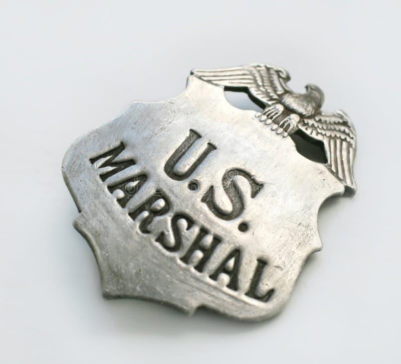US Marshall Badge. Close-up of a US Marshall Badge royalty free stock photo