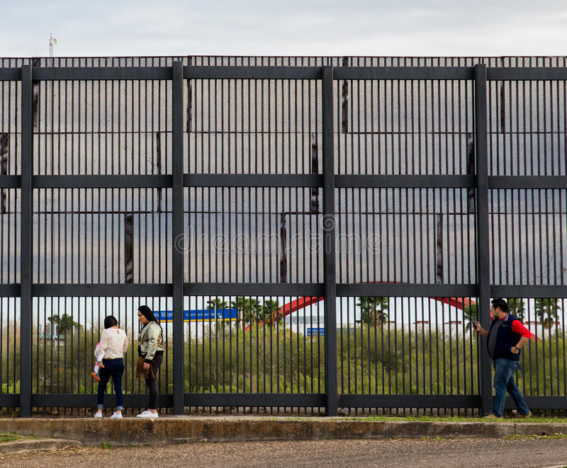 US Mexico Border Wall royalty free stock images