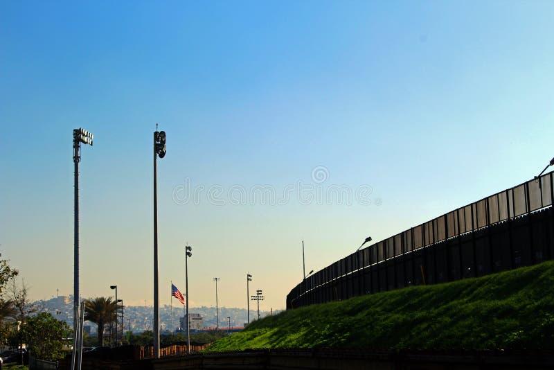 US-MEXICO Border Wall royalty free stock photos