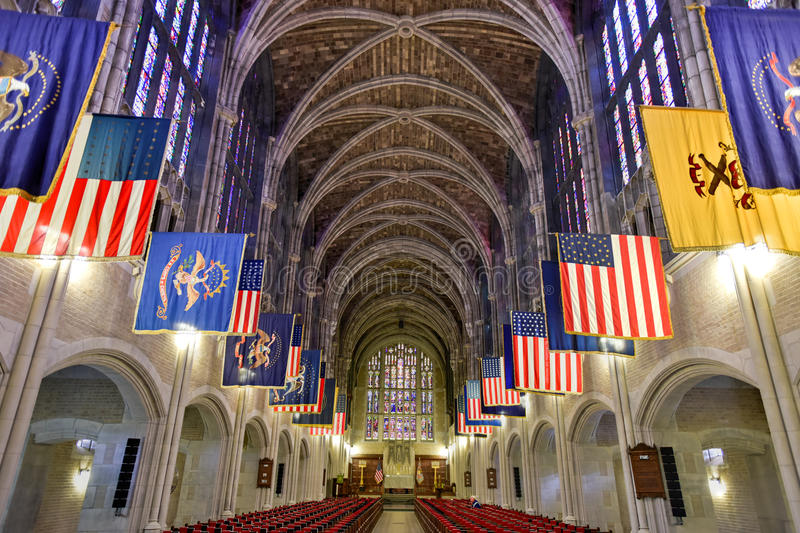US Military Academy at West Point. West Point, New York - September 26, 2015: West Point Cadet Chapel at the US Military Academy. The Cadet Chapel at the United stock photos