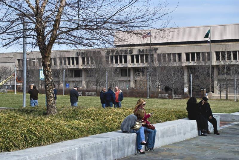 US Mint Philadelphia. A view of the Philadelphia US Mint royalty free stock photos