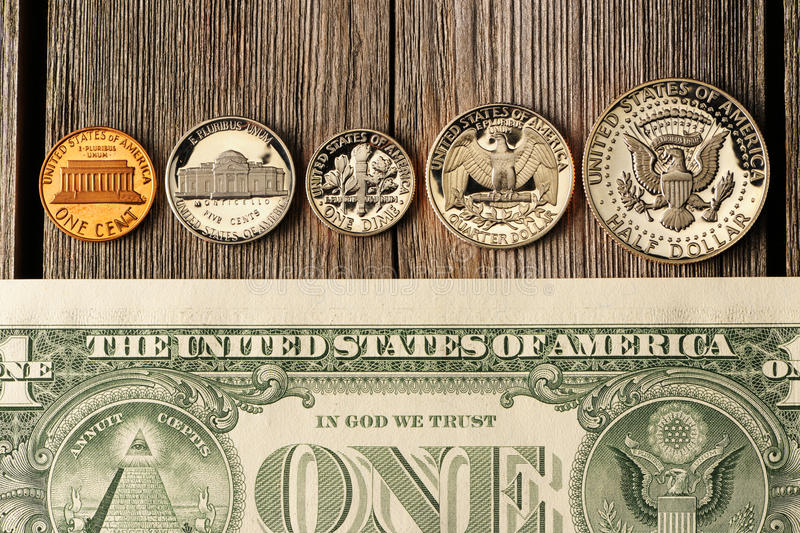 US money over wooden background royalty free stock photo