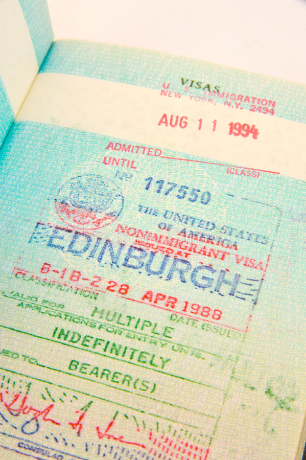 Download US multiple entry visa. stock photo. Image of britain - 12056446