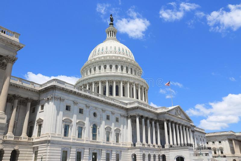 US National Capitol. In Washington, DC. American landmark. United States Capitol royalty free stock image
