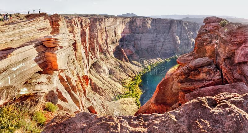 US National Parks, Arizona, Grand Canyon National Park. Scenic deep canyon and Colorado River, Grand Canyon National Park. Natural attraction in Arizona. U.S stock photo