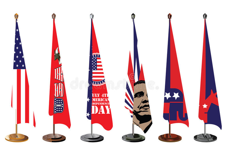 Us National Symbols Table Top Office Flag Editorial Image Image Of