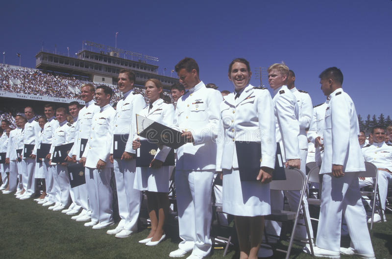 US Naval Academy Graduation royalty free stock photo
