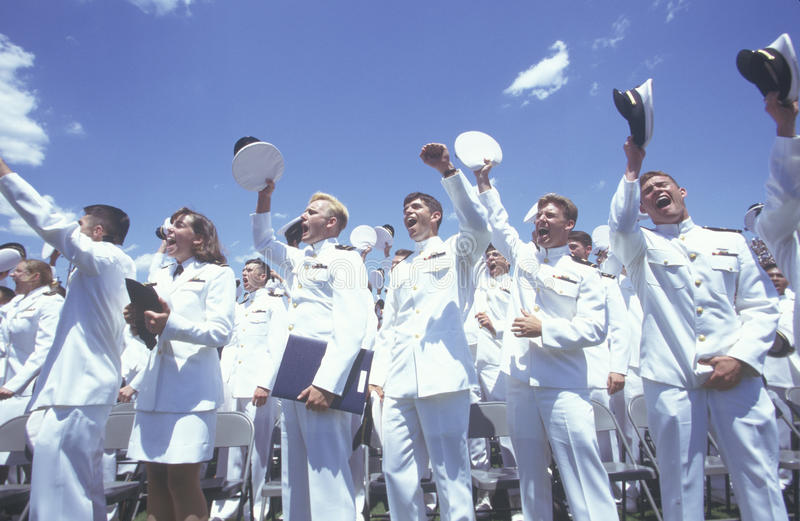US Naval Academy Graduation royalty free stock images