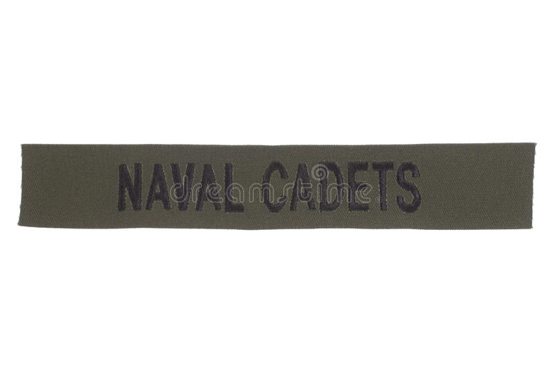 Us naval cadets uniform badge. Isolated on white royalty free stock image