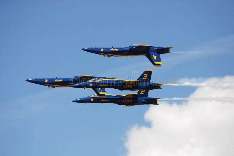 US Navy Blue Angels in airshow royalty free stock photos