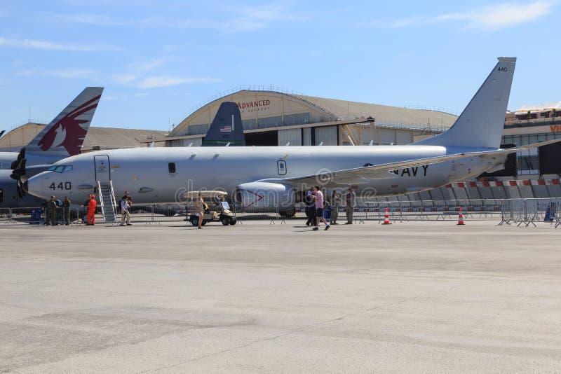 US Navy Boeing P-8 Poseidon stock photography