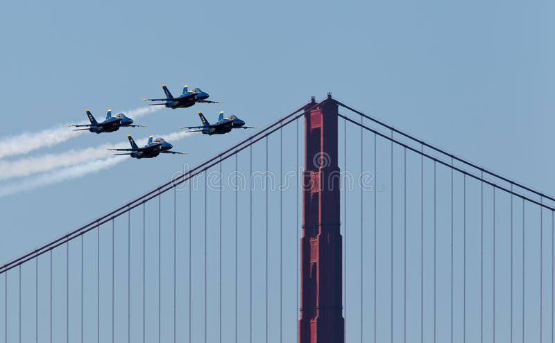US Navy Demonstration Squadron Blue angels royalty free stock image