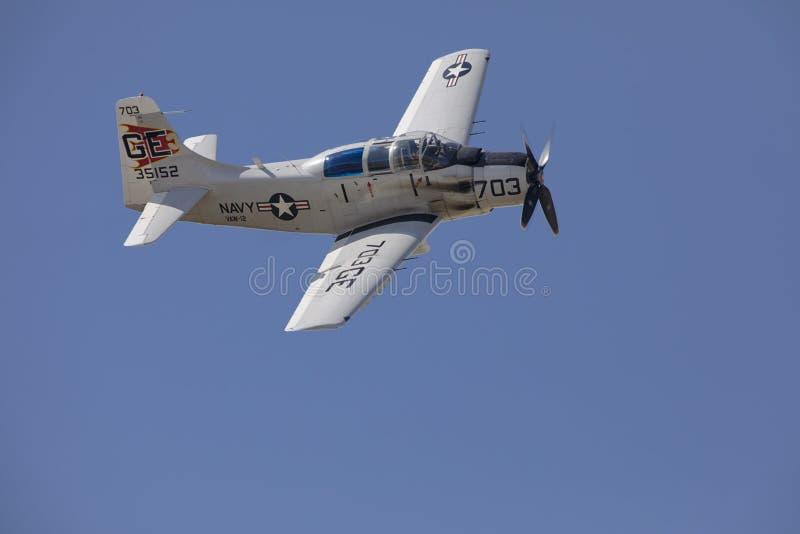 US Navy Douglas Skyraider Attack Aircraft royaltyfri foto