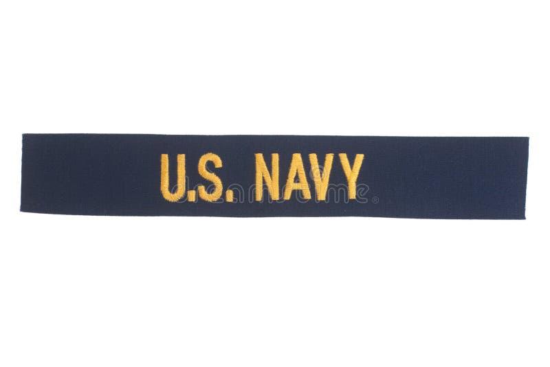 US NAVY uniform badge. Isolated stock photography
