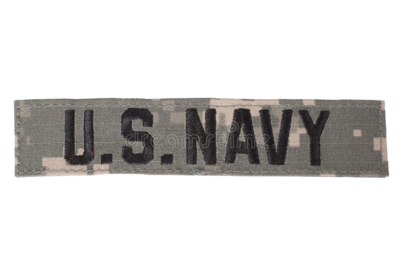 US NAVY uniform badge. Isolated on white stock photography