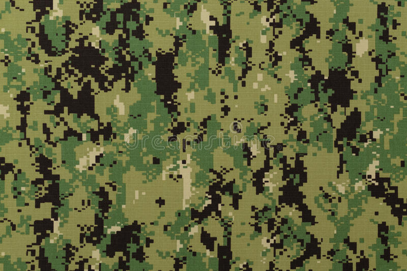 US navy working uniform aor 2 digital camouflage. Fabric texture background stock images