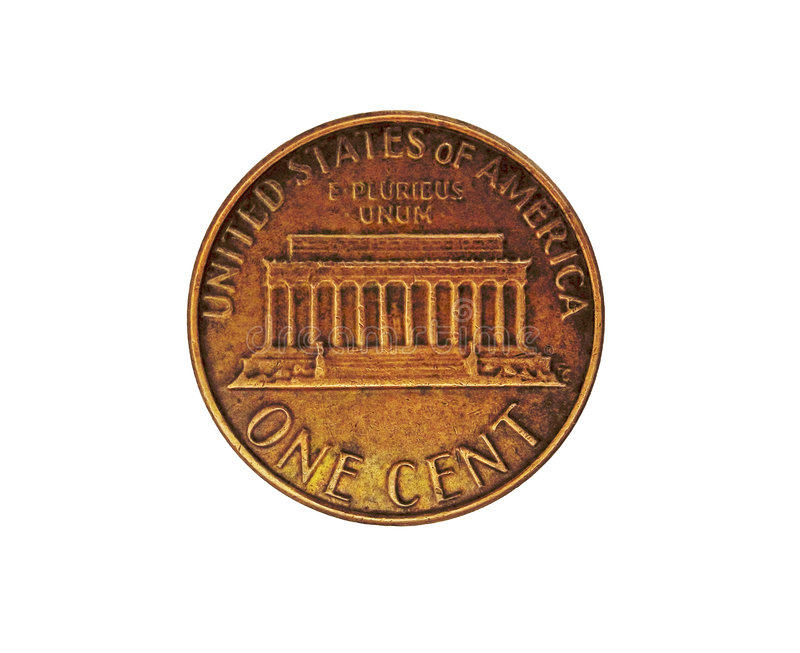 US one cent - penny stock photography