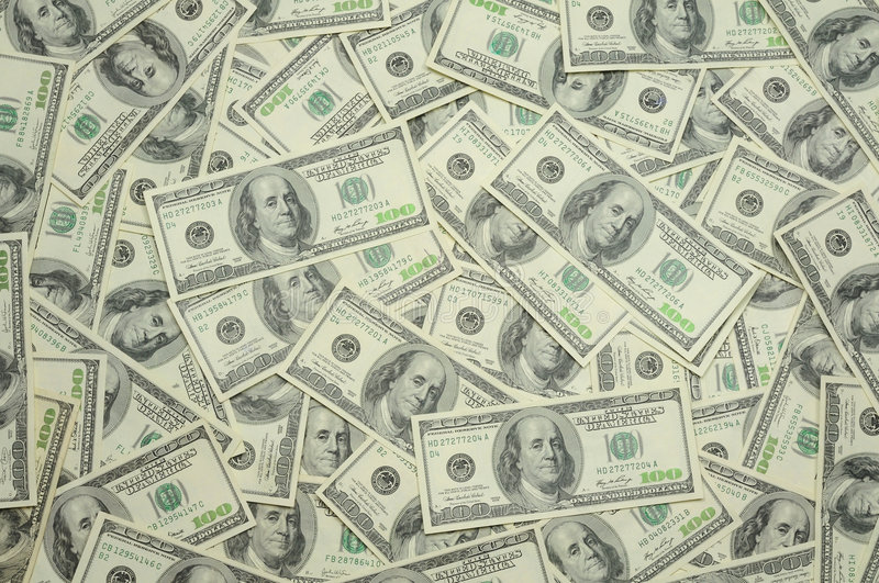 US one hundred dollar bills background royalty free stock images