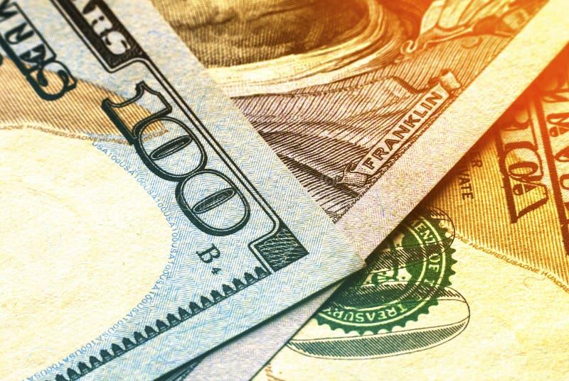 US one hundred dollar bills money background royalty free stock image