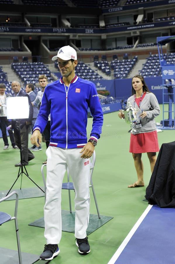 US Open 2015 (211) de Djokovic Novak images stock