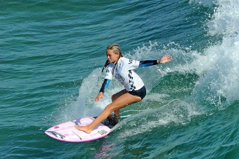 US Open de fourgons de surfer, Huntington Beach, 2019 image stock