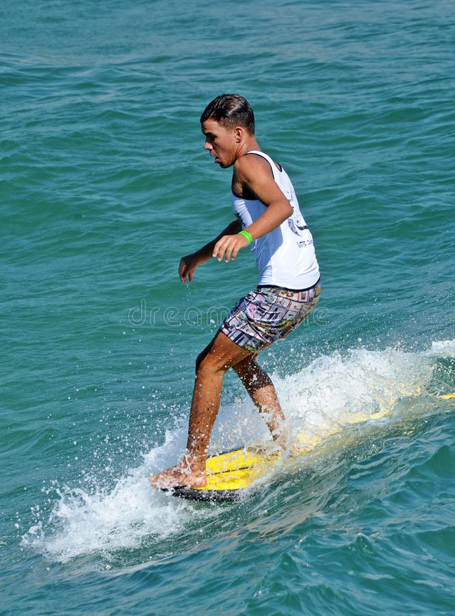 US Open de fourgons de surfer, Huntington Beach, 2019 photos stock