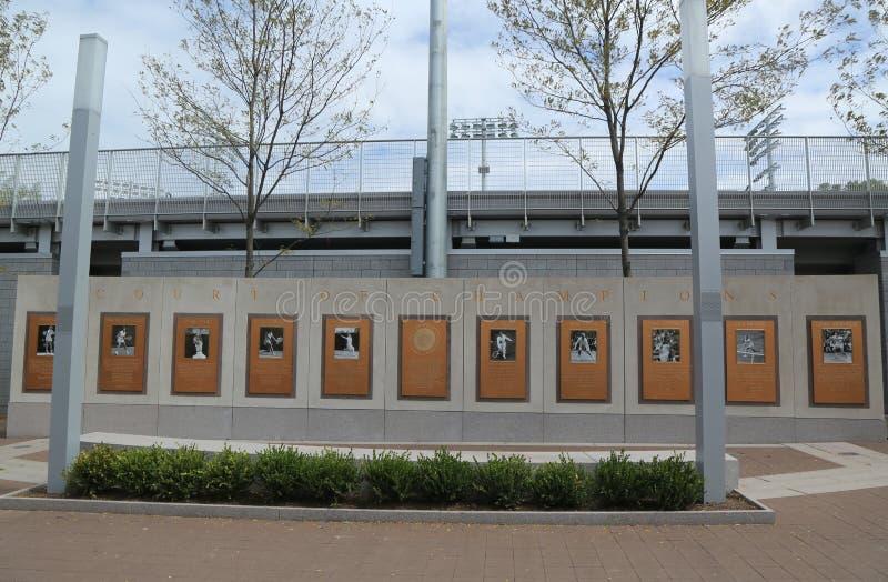 US Open-Gericht von Meistern bei Billie Jean King National Tennis Center bei der Spülung, NY stockfoto