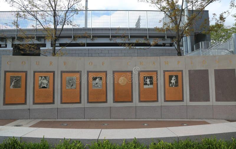 US Open-Gericht von Meistern bei Billie Jean King National Tennis Center bei der Spülung, NY lizenzfreies stockfoto