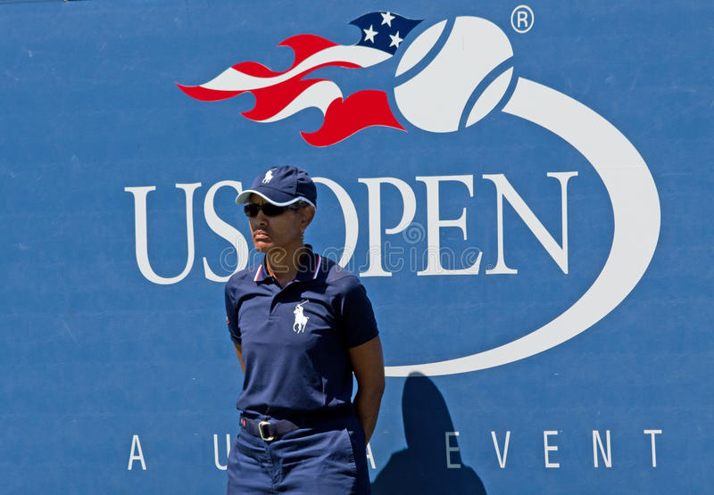 US Open Linesman Editorial Stock Photo