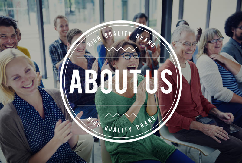 About Us Page Information Story Brand Concept royalty free stock photos