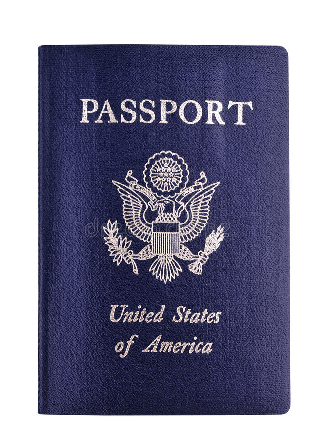 Us passport. Detail view of the us passport royalty free stock image